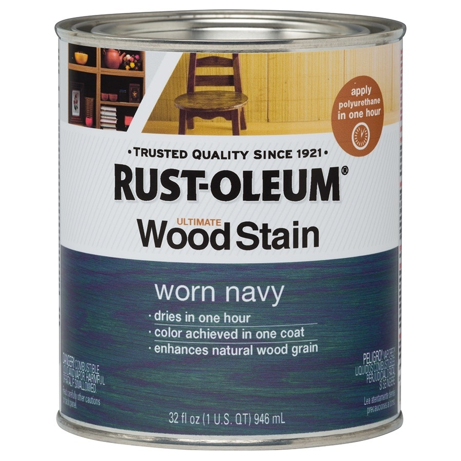 Rust Oleum Ultimate Worn Navy Interior Stain Actual Net Contents 32 Fl Oz