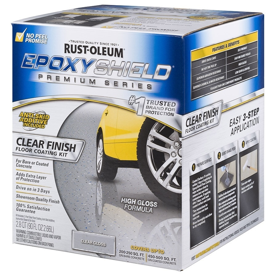 Rust-Oleum EpoxyShield 2-Part Clear High-Gloss Garage