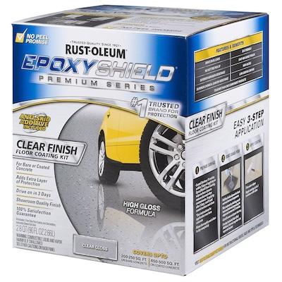 Rust-Oleum EpoxyShield 2-Part Clear High-Gloss Garage Floor Epoxy Kit