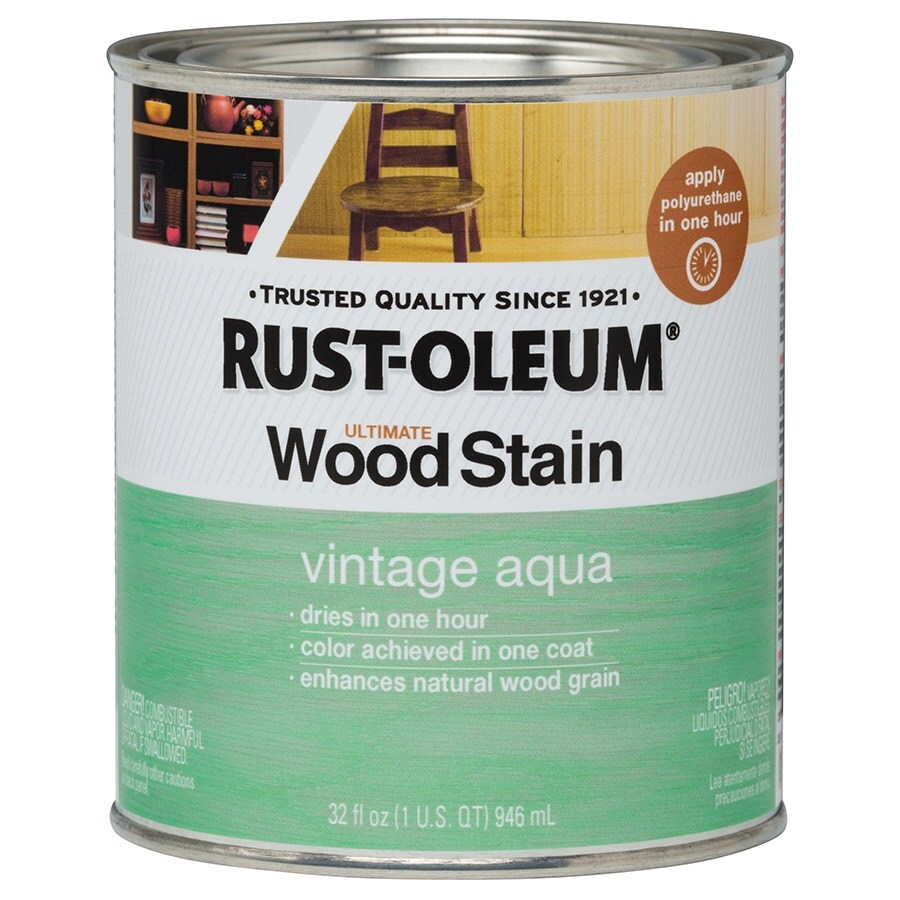 Rust Oleum Ultimate Vintage Aqua Interior Stain Actual