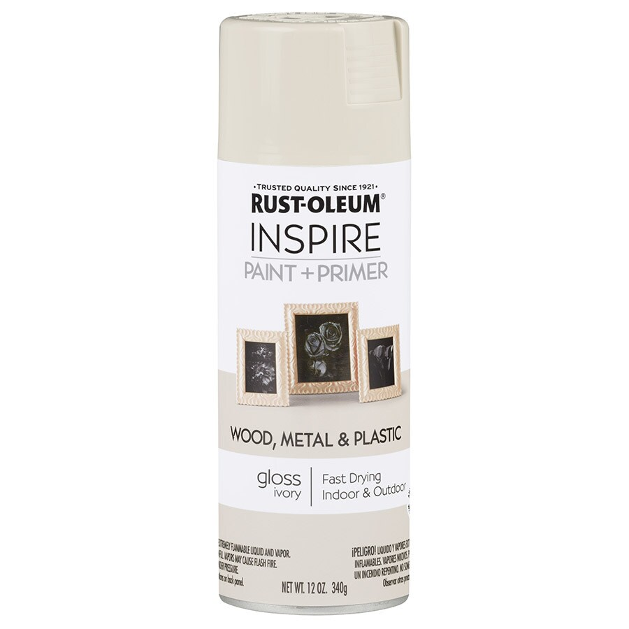 Rust-Oleum Inspire Ivory Fade Resistant Enamel Spray Paint (Actual Net Contents: 12 Oz.)
