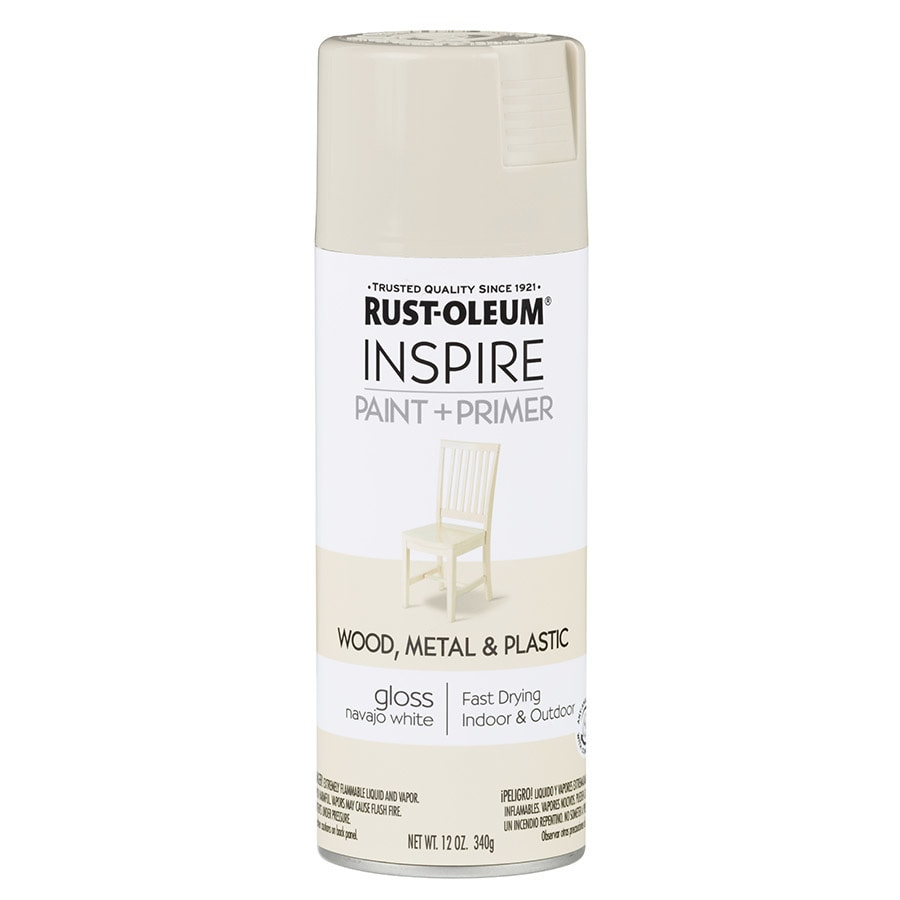 Rust Oleum Inspire Navajo White General Purpose Spray Paint Actual Net Contents 12 Oz