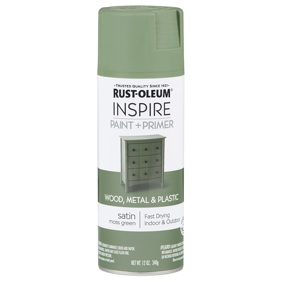 Rust-Oleum Inspire Moss Green Enamel Spray Paint (Actual Net Contents: 12-oz)