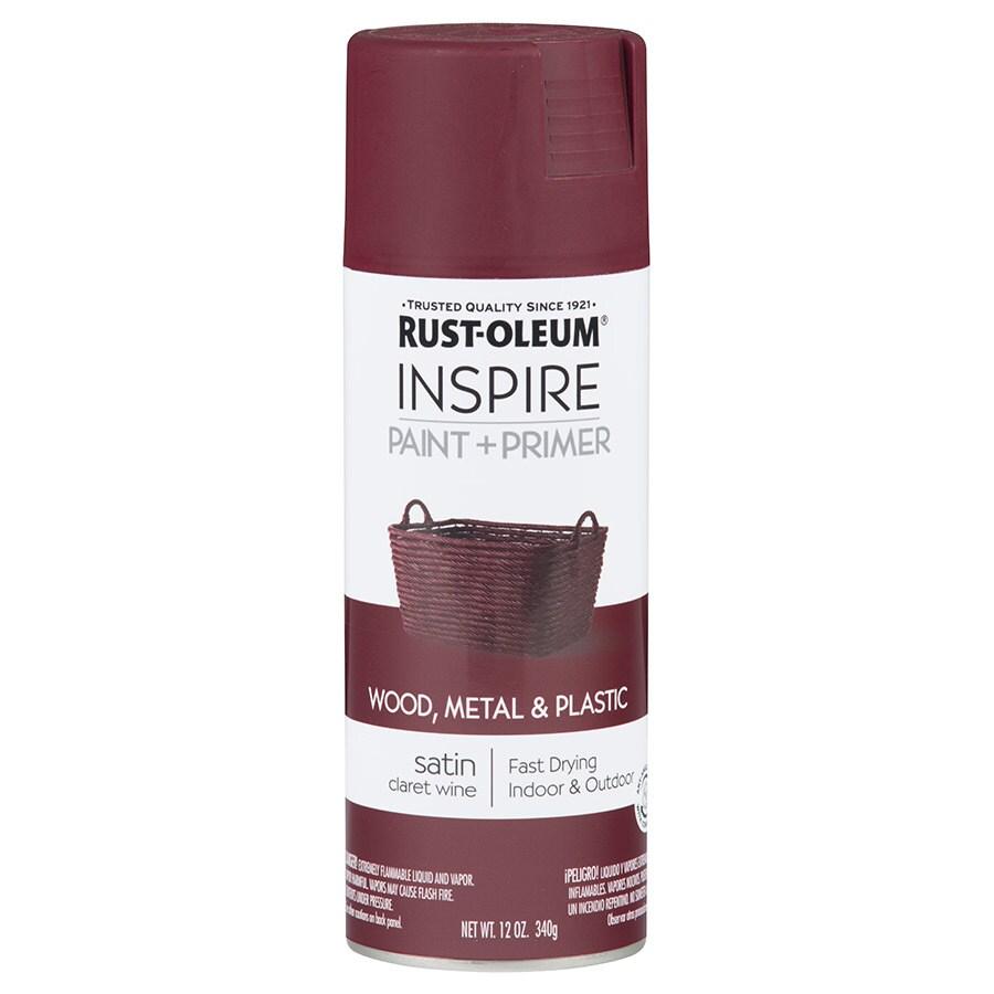 Rust-Oleum Inspire Claret Wine Enamel Spray Paint (Actual Net Contents: 12-oz)