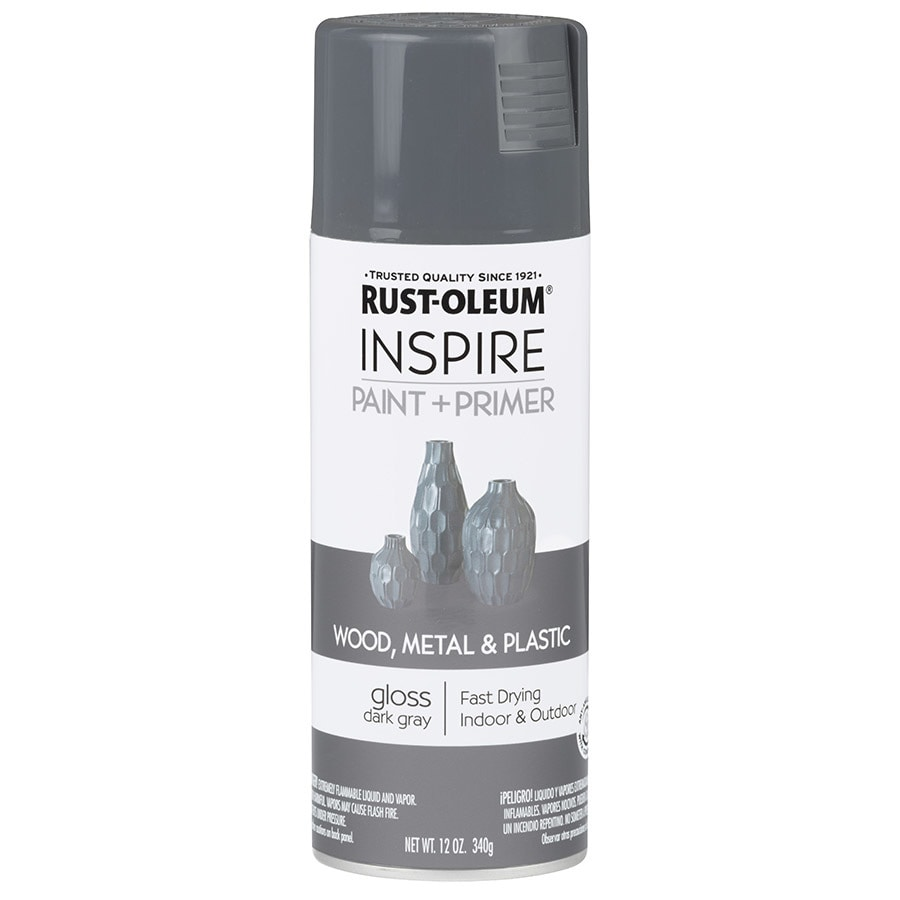 Rust-Oleum Inspire Dark Gray Enamel Spray Paint (Actual Net Contents: 12-oz)