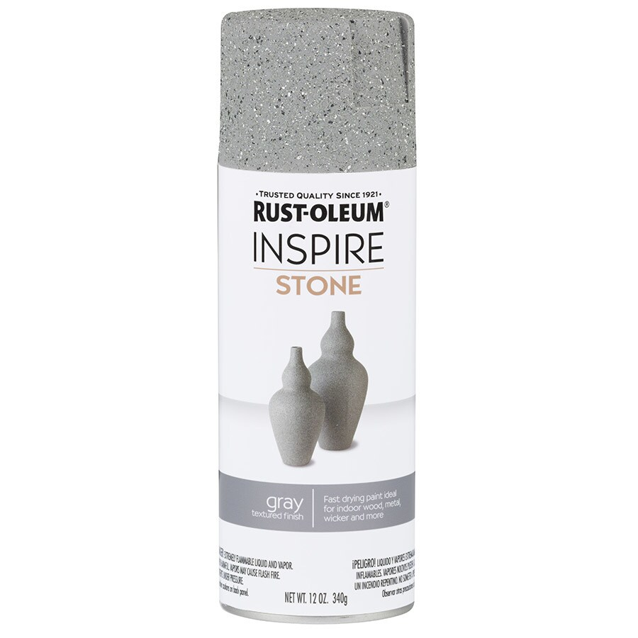 Rust-Oleum Inspire Gray Sandstone Spray Paint (Actual Net Contents: 12-oz)