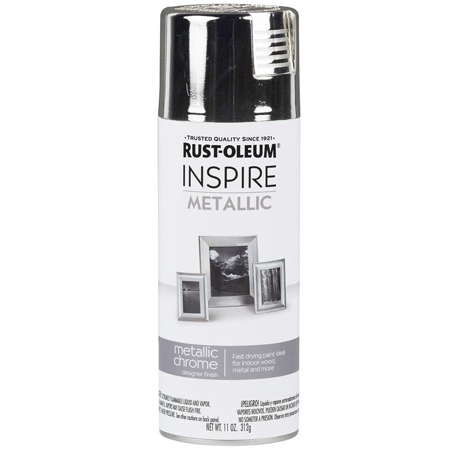 Rust-Oleum Inspire Bright Coat Chrome Spray Paint (Actual Net Contents: 11-oz)