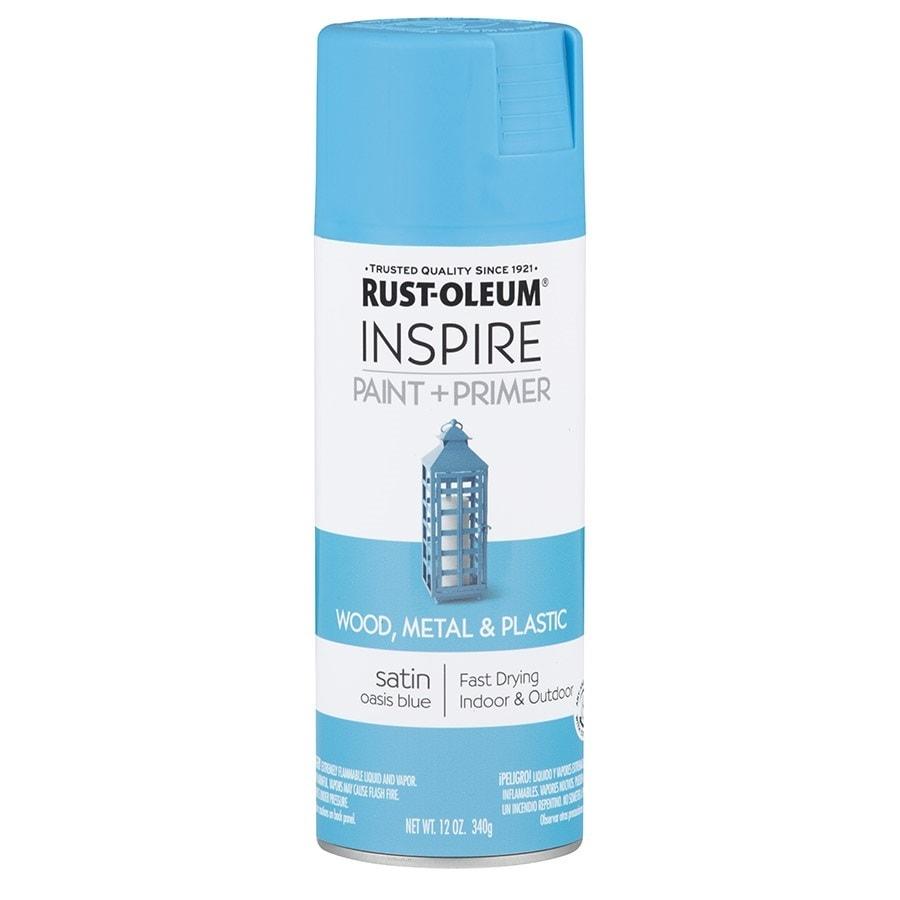 Rust-Oleum Inspire Oasis Blue Enamel Spray Paint (Actual Net Contents: 12-oz)