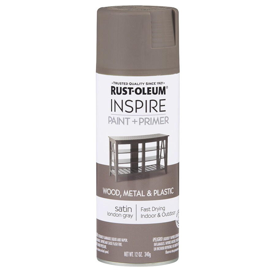 Rust-Oleum Inspire London Gray Enamel Spray Paint (Actual Net Contents: 12-oz)