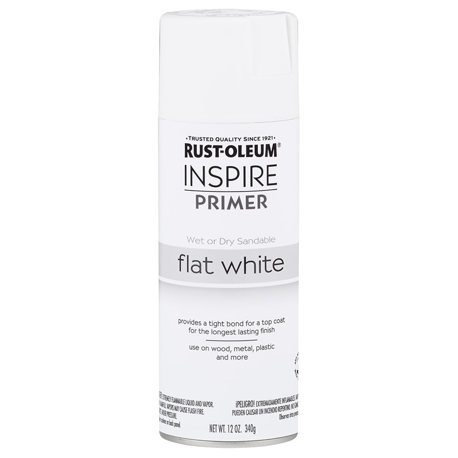 Rust-Oleum Inspire White Primer Spray Paint (Actual Net Contents: 12-oz)