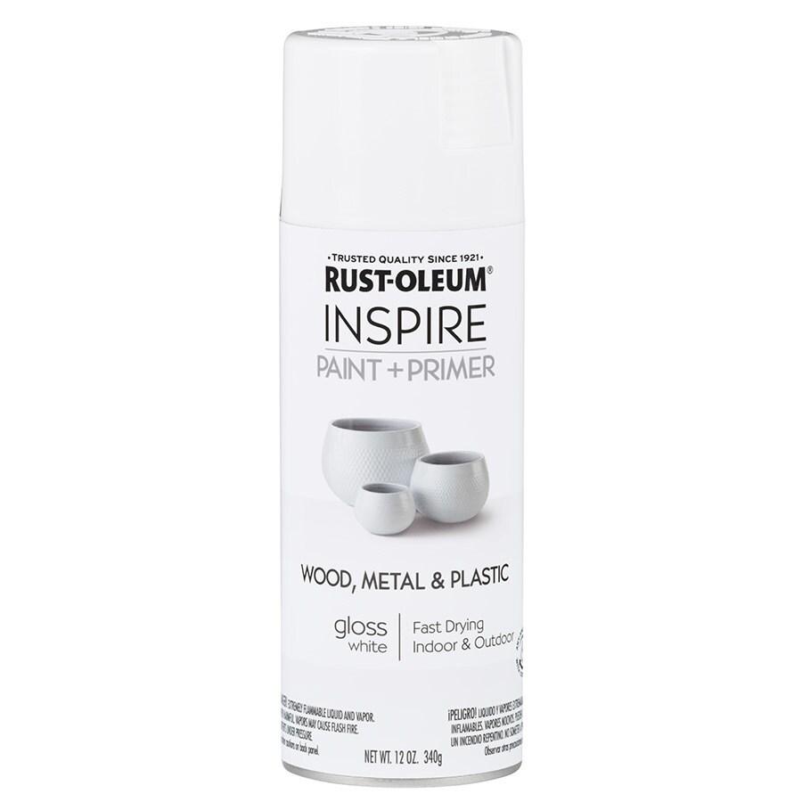 Rust-Oleum Inspire White Enamel Spray Paint (Actual Net Contents: 12-oz)