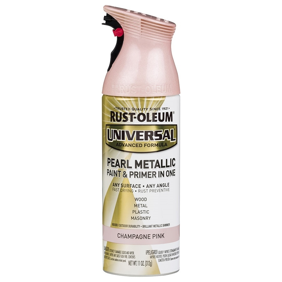 Rust-Oleum Universal Champagne Pink Pearlescent Rust Resistant Enamel Spray Paint (Actual Net Contents: 11-oz)