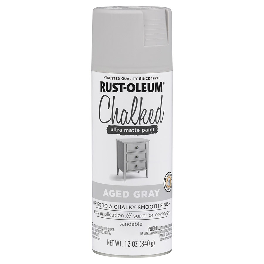 Rust-Oleum Chalked Aged Gray Chalky Paint (Actual Net Contents: 12-fl oz)