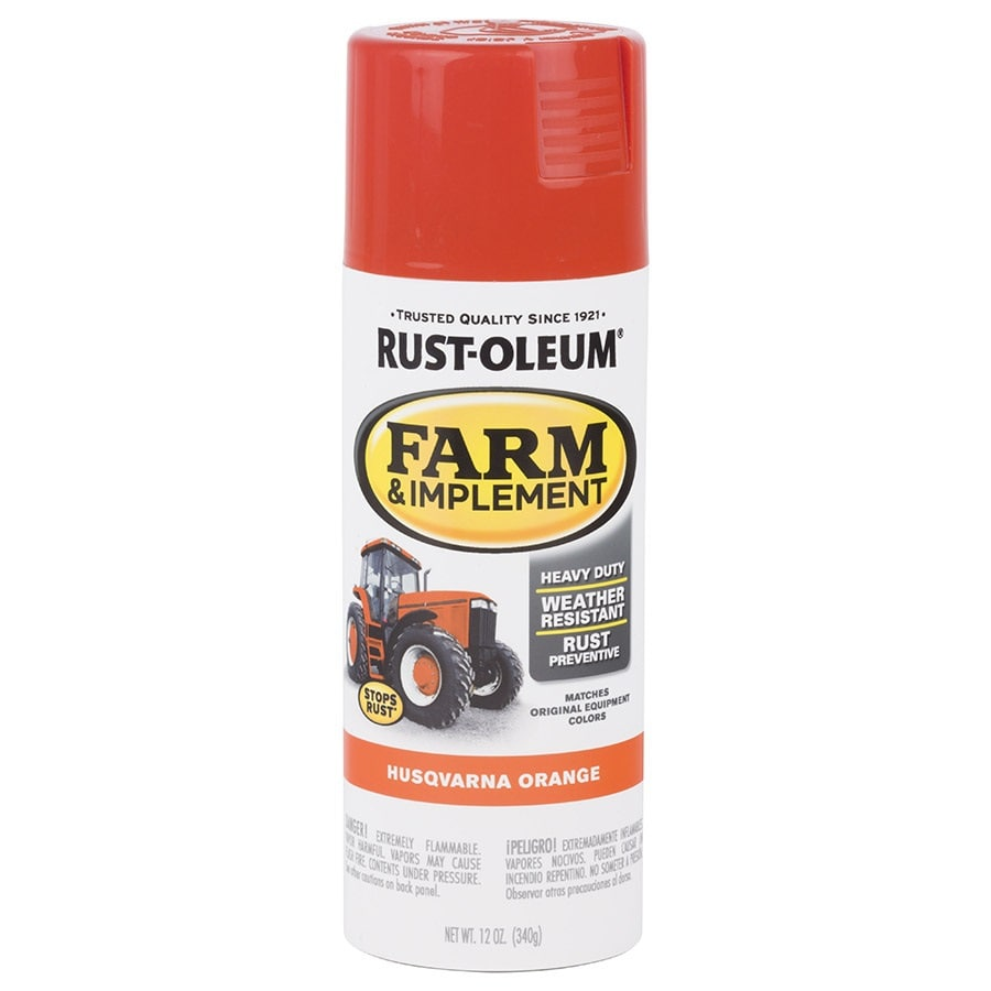 Shop Rust Oleum Specialty Husqvarna Orange Enamel Spray Paint Actual Net Contents 12 Oz At