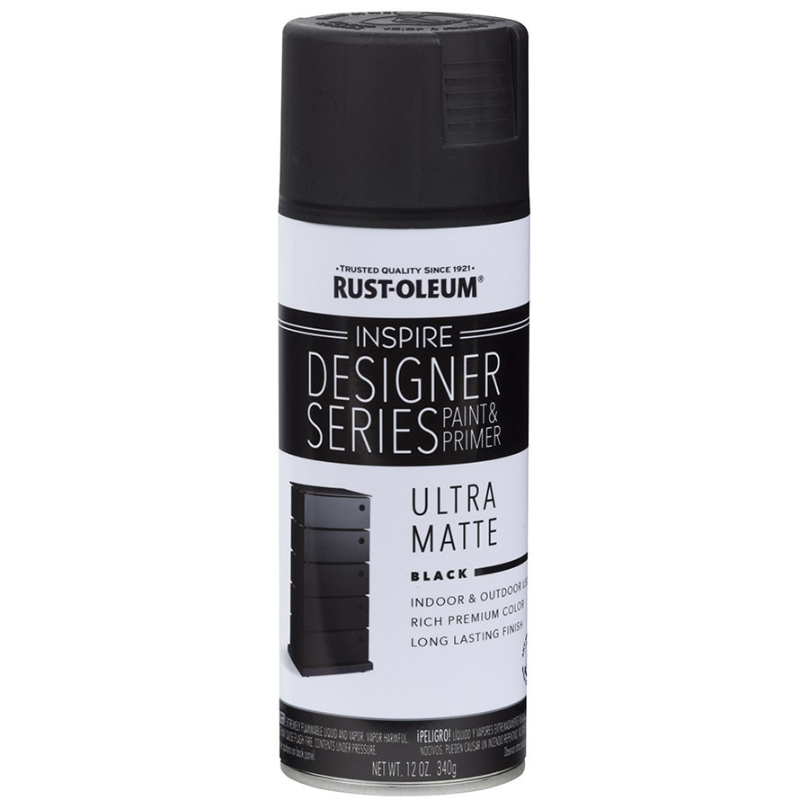 Rust-Oleum Inspire Black Enamel Spray Paint (Actual Net Contents: 12-oz)
