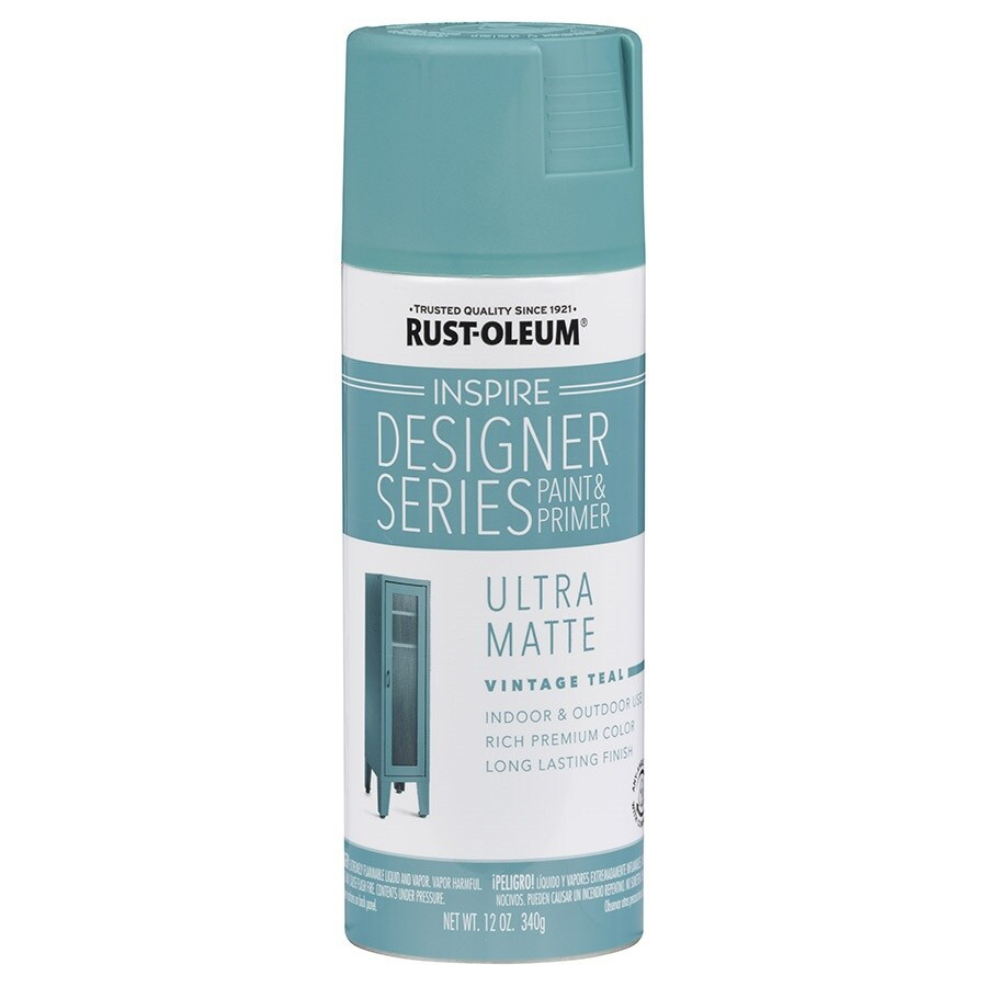 Rust-Oleum Inspire Vintage Teal Enamel Spray Paint (Actual Net Contents: 12-oz)