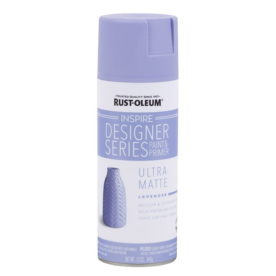 Shop Rust Oleum Inspire Lavender Enamel Spray Paint Actual Net Contents 12 Oz At