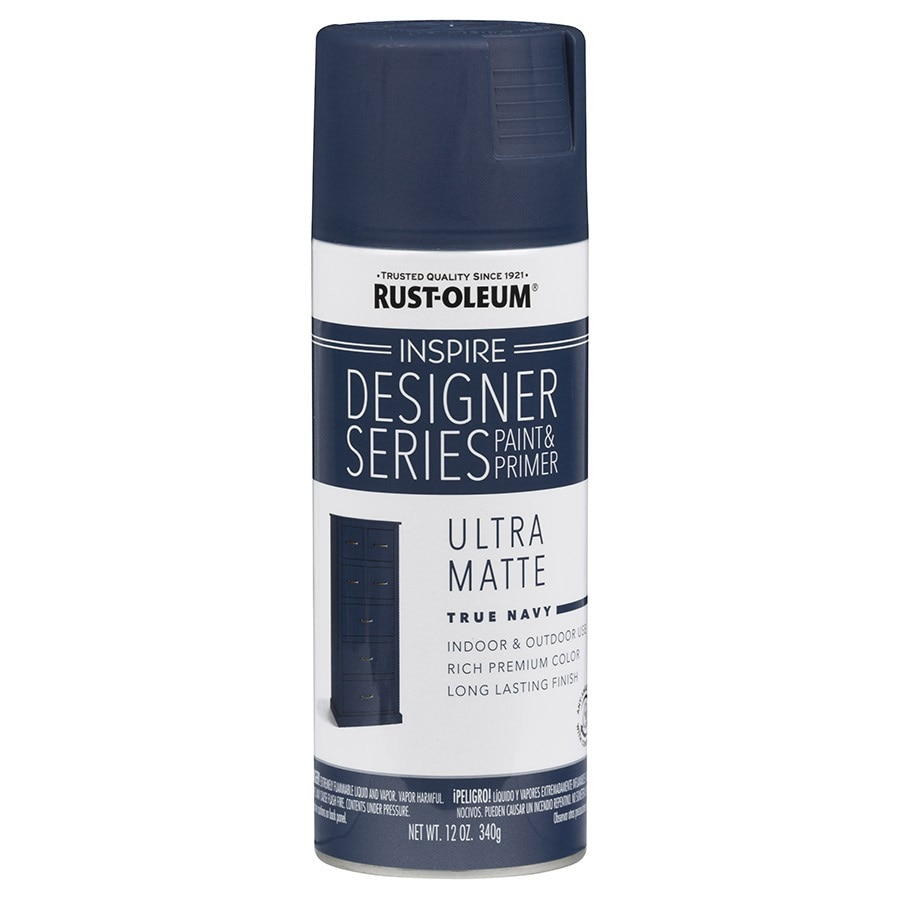 Shop Rust Oleum Inspire True Navy Enamel Spray Paint Actual Net Contents 12 Oz At
