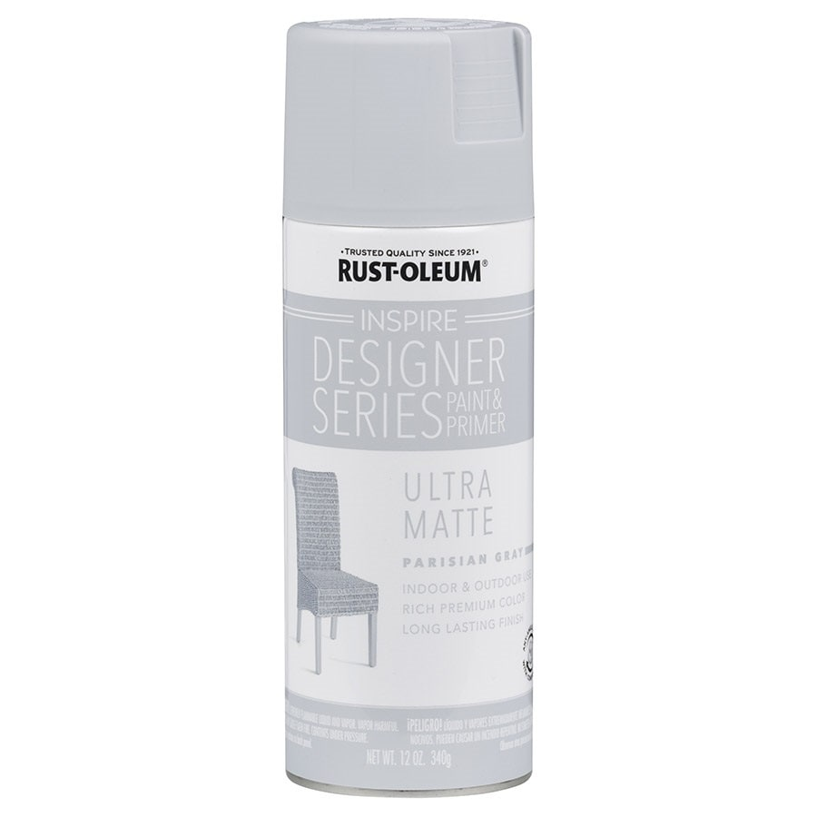 Rust-Oleum Inspire Parisian Gray Enamel Spray Paint (Actual Net Contents: 12-oz)