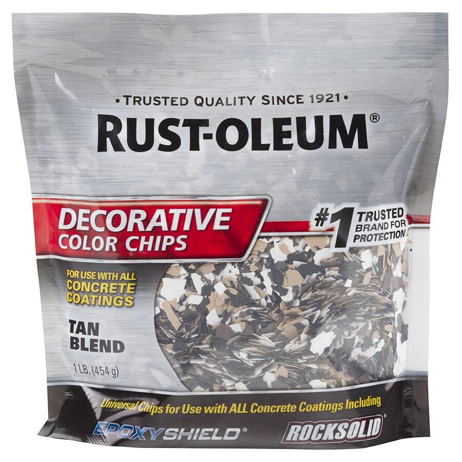 Shop Rust-Oleum Epoxyshield Tan Paint Color Flakes At