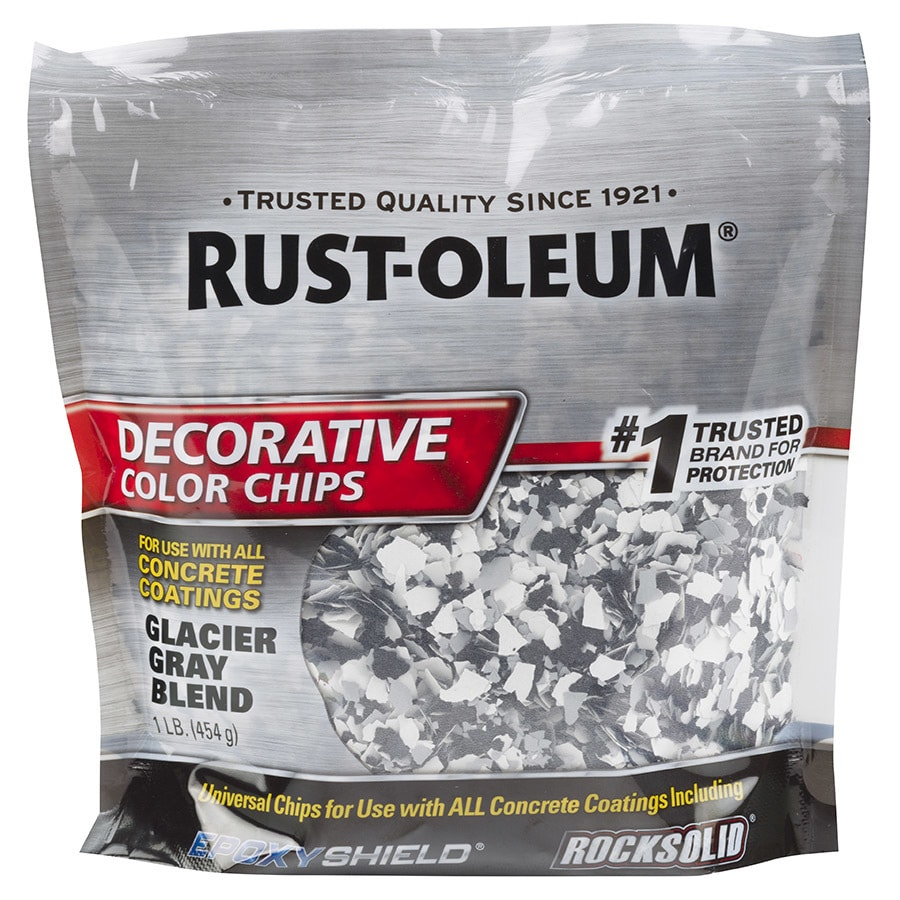 Shop Rust Oleum Epoxyshield Glacier Gray Paint Color Flakes At Lowes Com