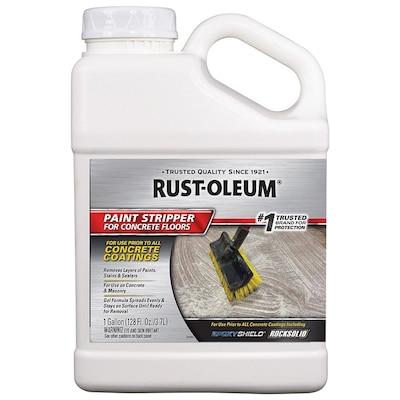 Rust Oleum 128 Fl Oz Liquid Concrete Paint Remover At