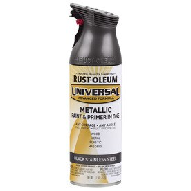 Rust-Oleum Universal Gloss Black Metallic Spray Paint and Primer In One (Actual Net Contents: 11-oz)