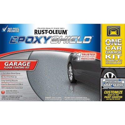 Rust-Oleum EpoxyShield 2-Part Gray Gloss Garage Floor Epoxy Kit