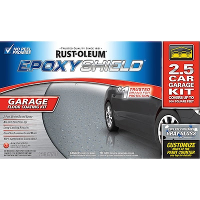 Epoxyshield 2 Part Gray Gloss Garage Floor Epoxy Kit Actual Net Contents 240 Fl Oz