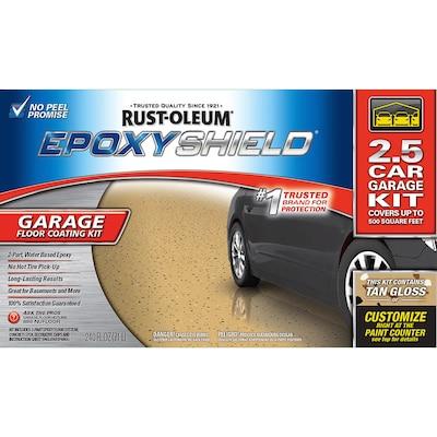 Rust-Oleum EpoxyShield 2-Part Tan Gloss Garage Floor Epoxy Kit