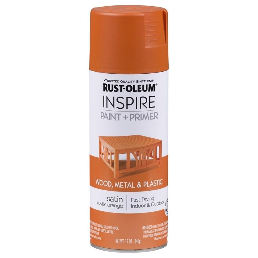 Rust Oleum Inspire Rustic Orange General Purpose Spray Paint Actual Net Contents 12