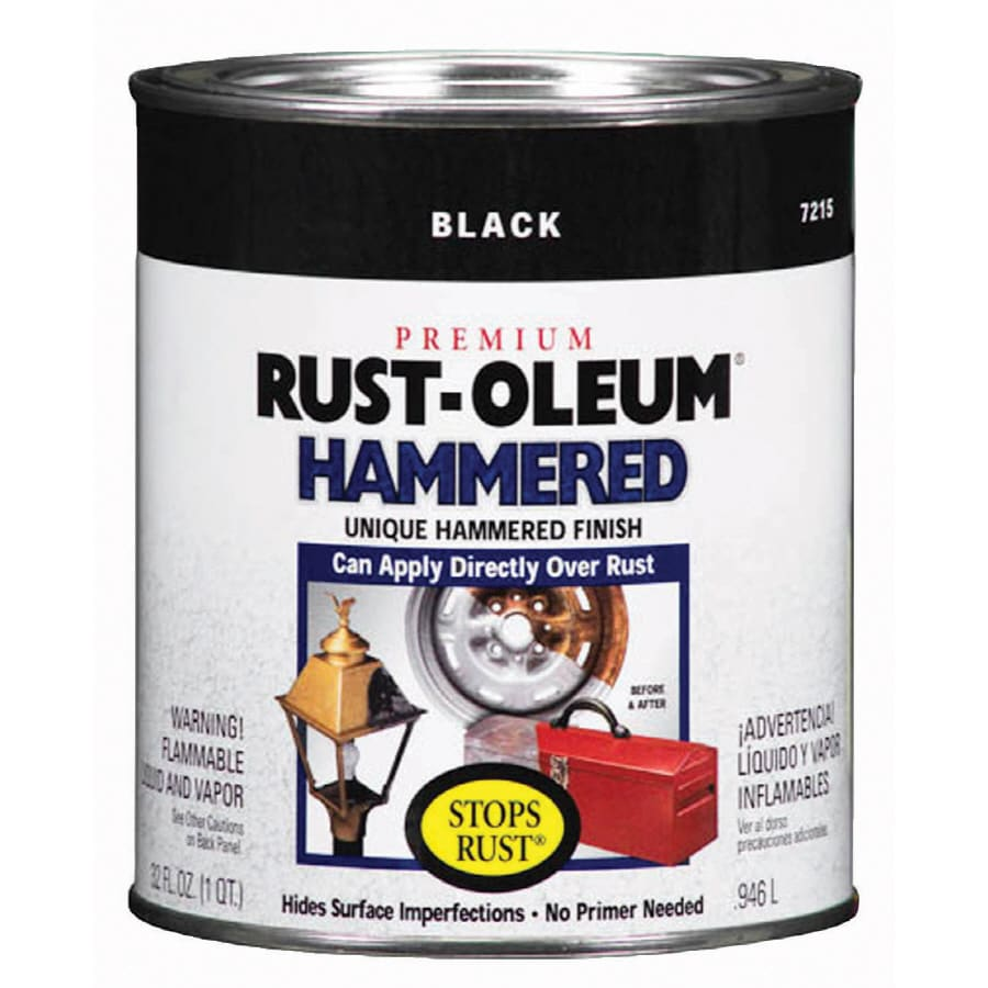 Shop Rust Oleum 32 Fl Oz Interior Exterior Black Hammered Oil Base Paint At