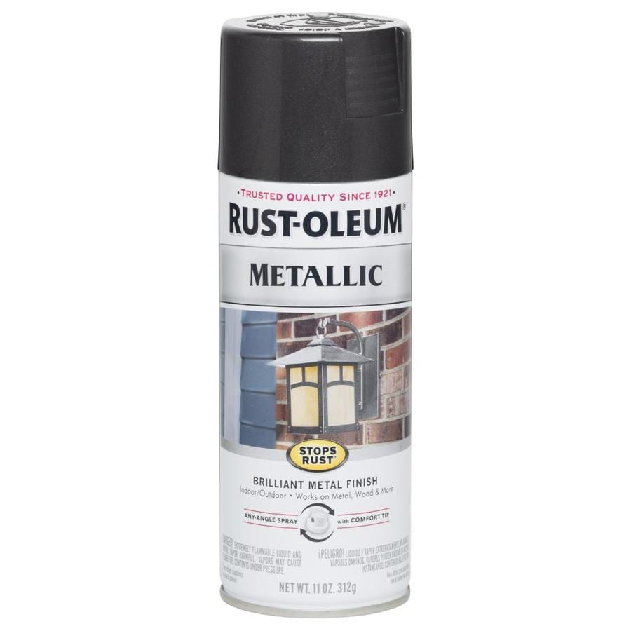 Shop rust oleum stops rust black night metallic enamel spray paint actual net contents 11 oz Black metal spray paint