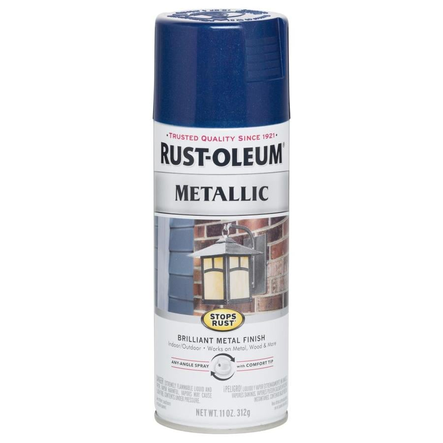 Shop Rust Oleum Stops Rust Cobalt Blue Metallic Enamel Spray Paint Actual Net Contents 11 Oz