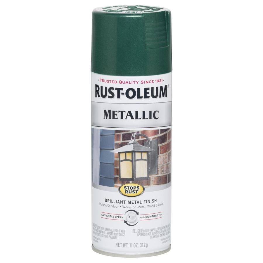 Shop Rust Oleum Stops Rust Racing Green Metallic Enamel Spray Paint Actual Net Contents 11 Oz