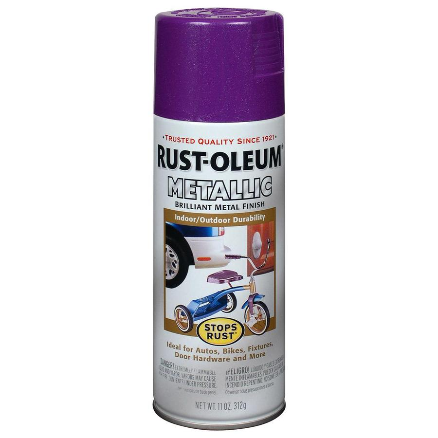 Shop Rust Oleum Stops Rust 11 Oz Deep Purple Spray Paint At