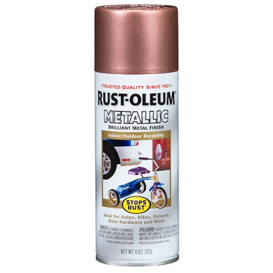 Shop Rust Oleum Stops Rust Copper Metallic Enamel Spray Paint Actual Net Contents 11 Oz At