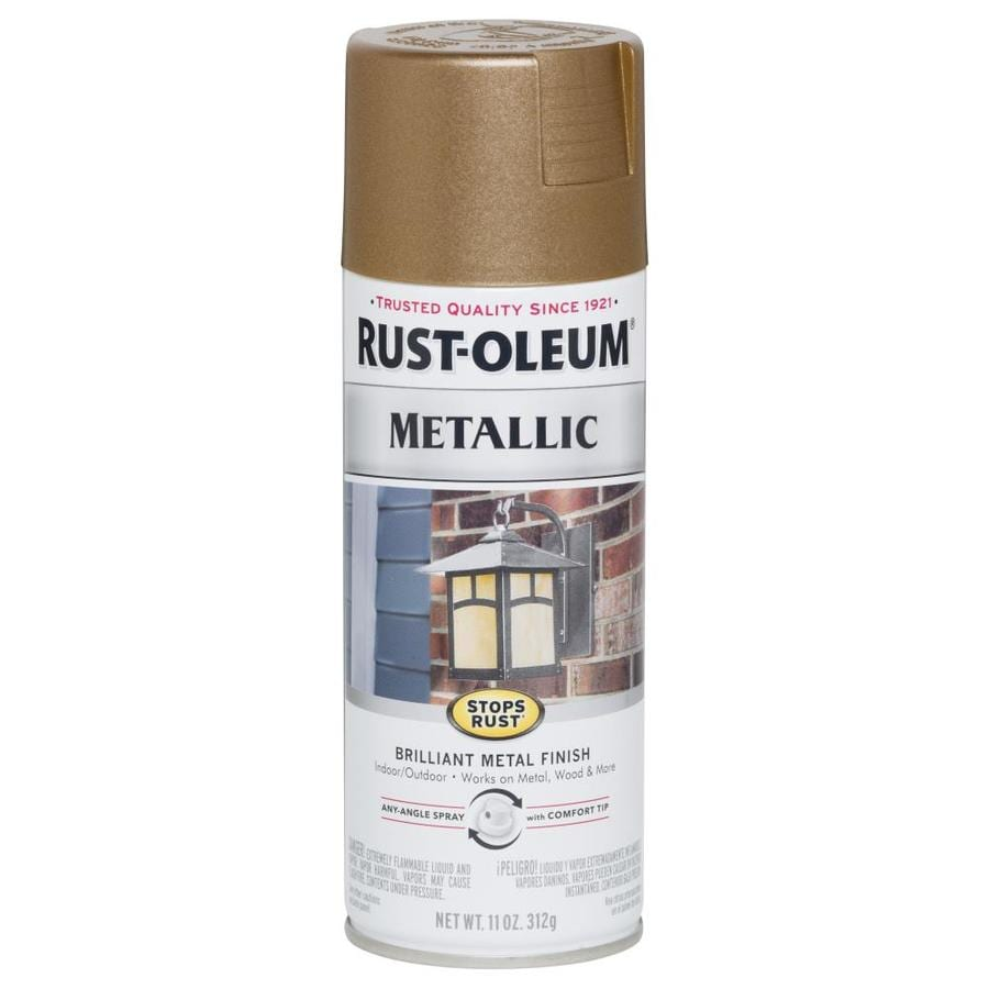 Shop Rust Oleum Stops Rust Antique Brass Metallic Rust Preventative Spray Paint Actual Net