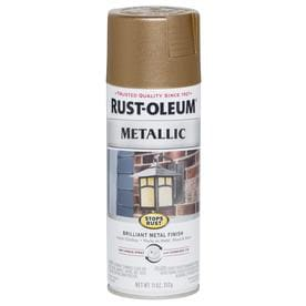Rust-Oleum Stops Rust Gloss Antique Brass Metallic Spray Paint (Actual Net Contents: 11-oz)