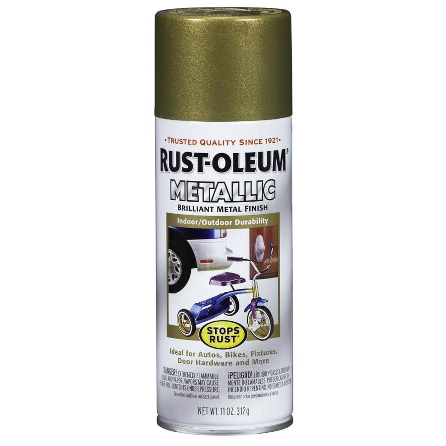 Rust-Oleum Burnished Brass Metallic Enamel Spray Paint (Actual Net Contents: 11-oz)