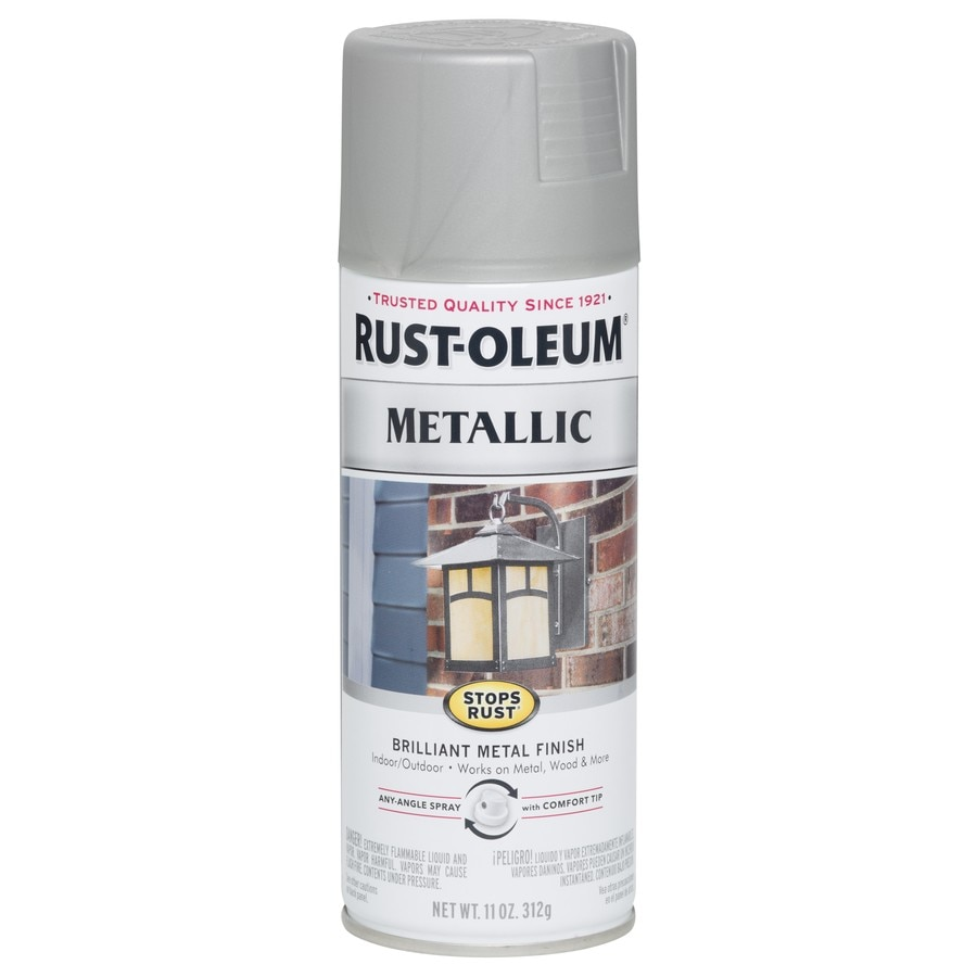 Shop Rust Oleum Stops Rust Nickel Metallic Enamel Spray Paint Actual Net Contents 11 Oz At