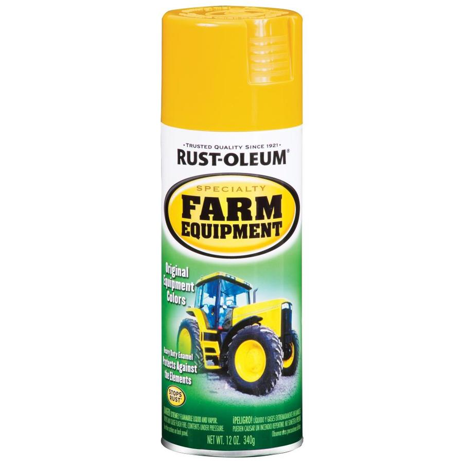 Rust-Oleum Specialty Farm Equipment Caterpillar Yellow Rust Resistant Enamel Spray Paint (Actual Net Contents: 12-oz)