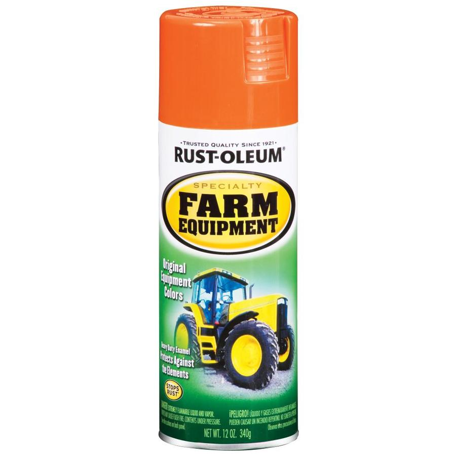 Rust-Oleum Specialty Farm Equipment Orange Rust Resistant Enamel Spray Paint (Actual Net Contents: 12-oz)
