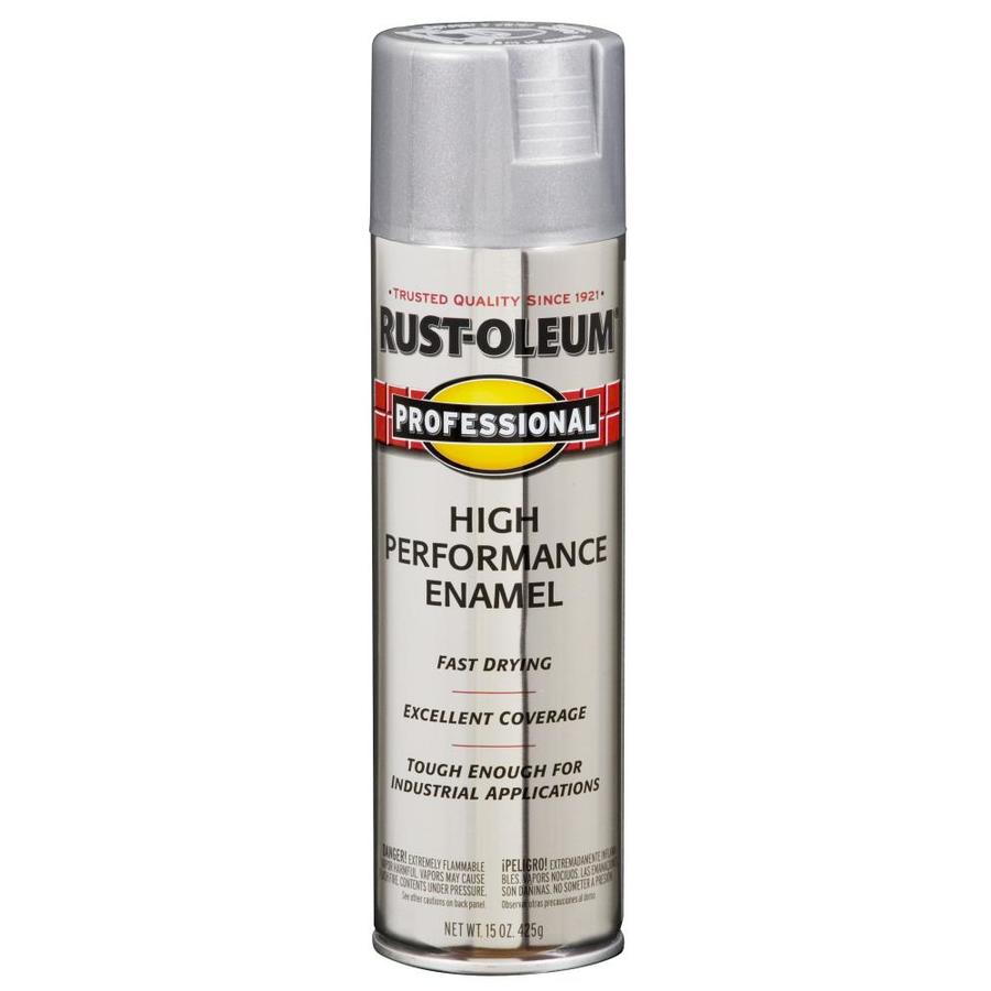 Rust Oleum Professional Gloss Aluminum Spray Paint Actual Net Contents 14 Oz In The Spray Paint Department At Lowes Com