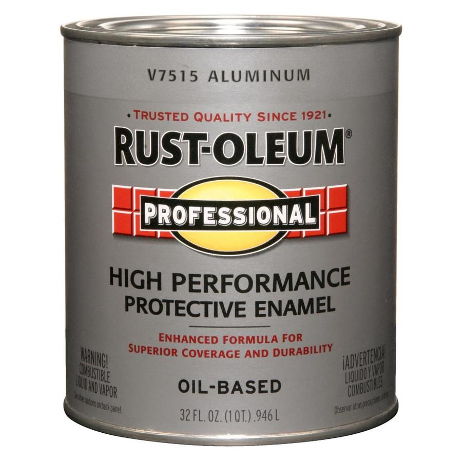 Shop Rust Oleum Professional Aluminum Flat Oil Based Enamel Interior Exterior Paint Actual Net