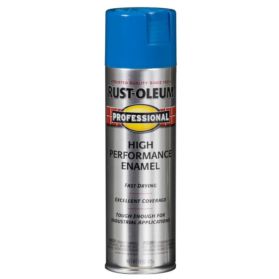 Shop rust oleum professional safety blue rust preventative for Spray paint safety