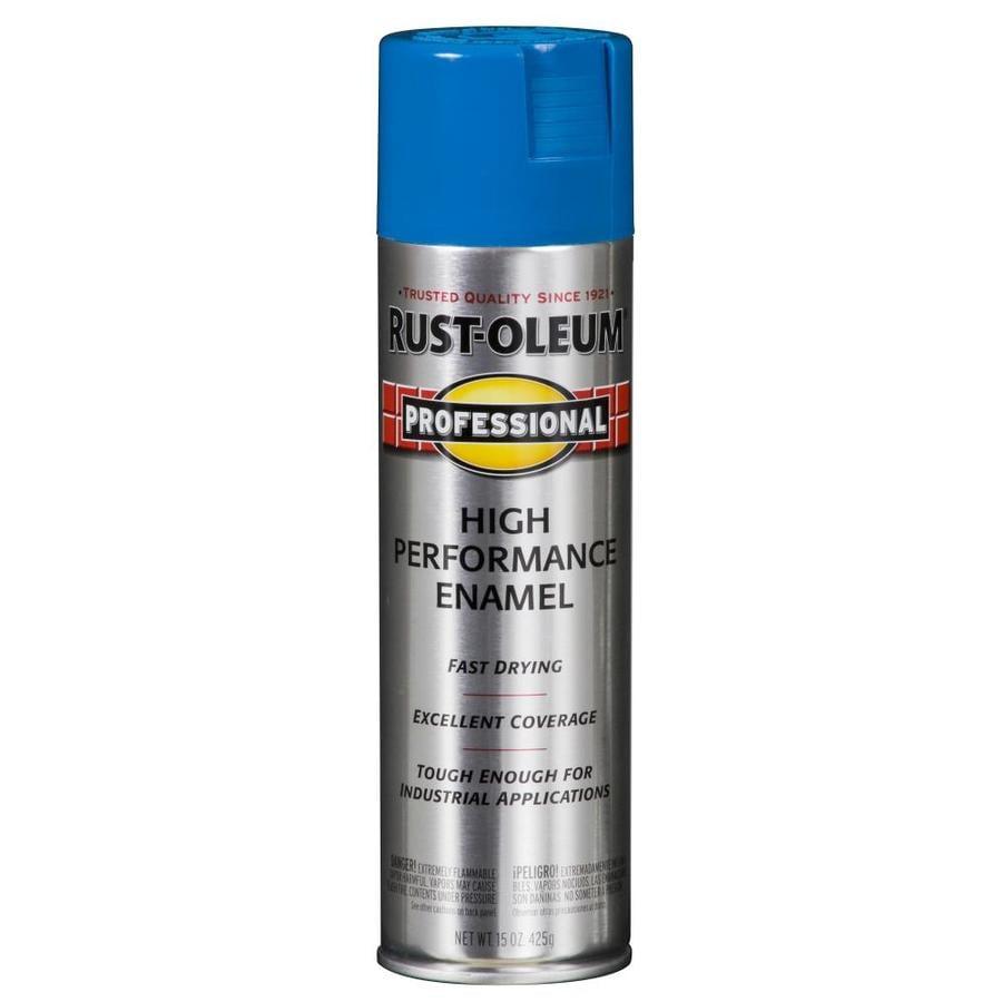 Rust-Oleum Professional Safety Blue Enamel Spray Paint (Actual Net Contents: 15-oz)