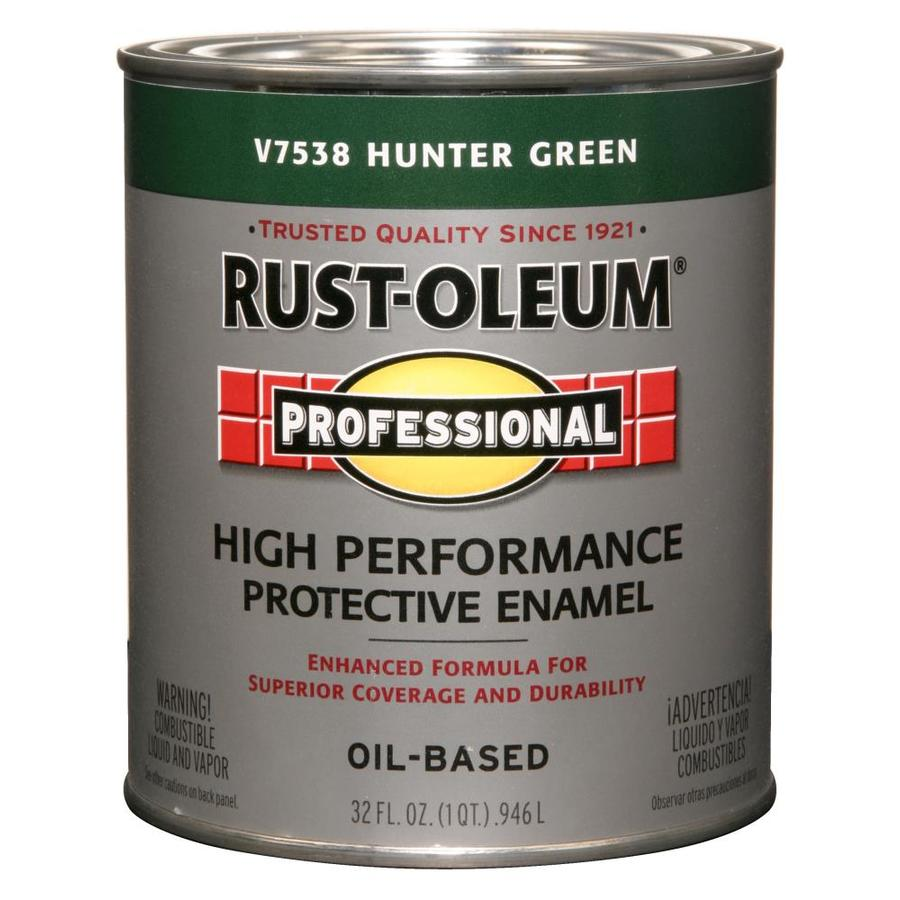 Shop Rust Oleum Professional Hunter Green Gloss Oil Based Enamel Interior Exterior Paint Actual