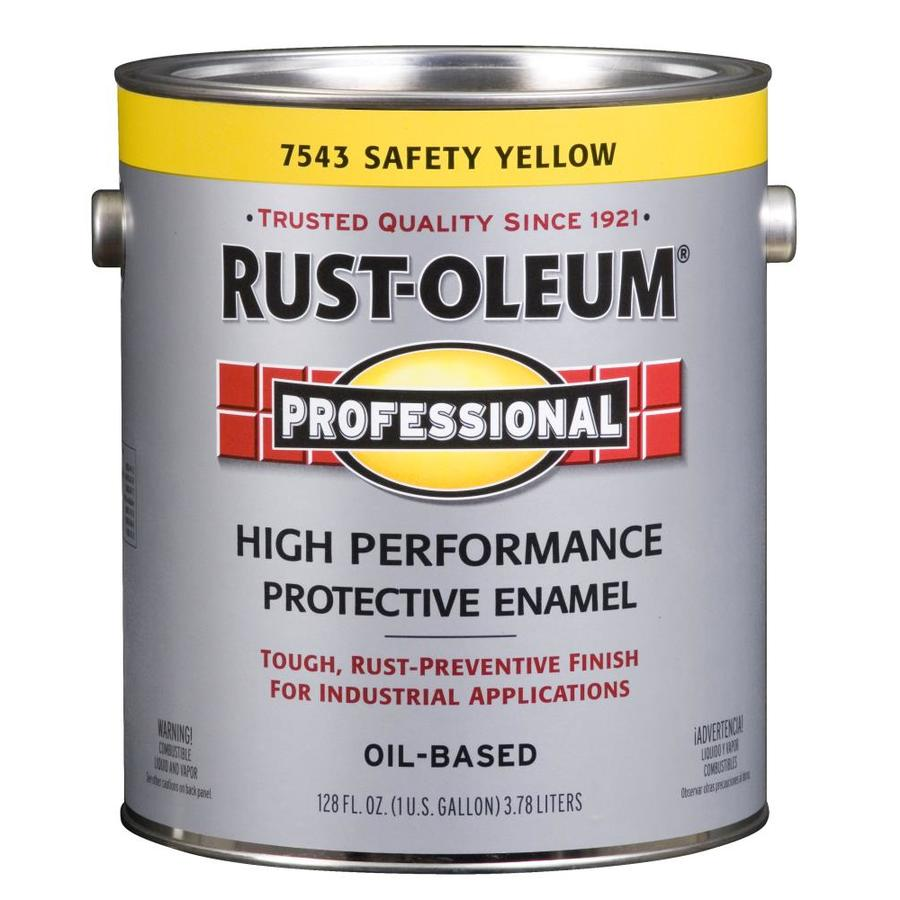 Shop rust oleum professional safety yellow gloss gloss oil for Exterior yellow paint