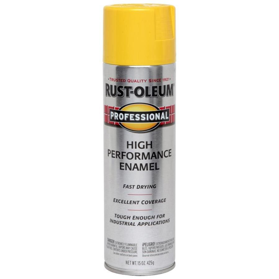Shop rust oleum professional safety yellow rust resistant enamel spray paint actual net Aerosol paint spray